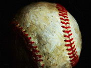 Baseballs Framed Prints - All American Pastime - Baseball - Painterly Framed Print by Wingsdomain Art and Photography