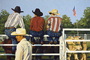 Rodeo Bulls Posters - All American Poster by Pat Burns