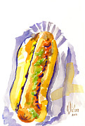 Baseball Originals - All Beef Ballpark Hot Dog with the Works to Go in Broad Daylight III by Kip DeVore