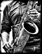 Sax Photos - All Blues Man With Jazz On The Side by Bob Orsillo