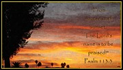 Psalm Posters - All Day Praise Poster by Glenn McCarthy Art and Photography