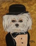 Maltese Dogs Posters - All Dressed Up and  No Where To Go Poster by Dyanne Parker