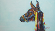 Filly Paintings - All Dressed Up by Kimberly Santini