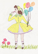 Computer Drawings Prints - All Dressed Up Print by Rosalie Scanlon