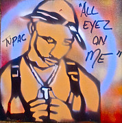 First Amendment Paintings - All Eyez On Me by Tony B Conscious