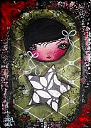 Surreal Girl Framed Prints - All Green Framed Print by  Abril Andrade Griffith