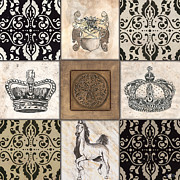 Pen And Ink Prints - All Hail the Queen Print by Debbie DeWitt