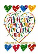 Christmas Greeting Framed Prints - All Hearts Come Home For Christmas Framed Print by Karon Melillo DeVega