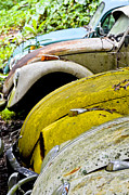 Rusted Cars Photos - All In A Row by Carolyn Marshall