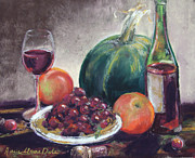 Wine-bottle Pastels - All Is Well by Marie-Claire Dole