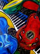 Pianos Paintings - All Jazzed by Cheryl Ehlers