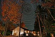 All Night Star Trails Print by Larry Landolfi