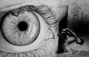 Pain Drawings - All Seeing by Carol Hernandez
