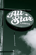 All-star Framed Prints - All Star Lanes Framed Print by Jez C Self