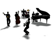 Jazz Painting Prints - All That Print by Daniel Bauer