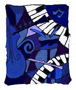 Blues Guitar Paintings - All That Jazz 3 by Wayne Potrafka