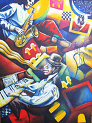 Band Painting Originals - ALL THAT JAZZ by Nuria Fortuny by Nuria Fortuny