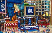 Montreal Streets Painting Originals - All That Jazz by Carole Spandau