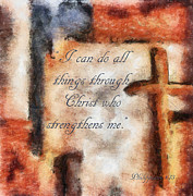 Scriptural Posters - All Things Poster by Darla Sikes