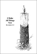 Religious Drawings Originals - All Things by Mike Ivey