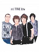 Alternative Rock Band Drawings - All Time Low by Michael Dijamco