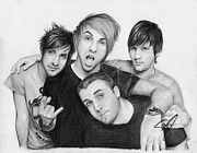 Time Drawings Posters - All Time Low Poster by Rosalinda Markle