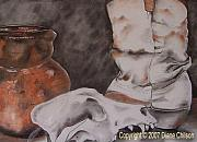 Clay Drawings - All Used Up by Diane Chilson