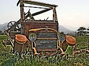 Old Trucks Art - All Used Up by Peter Schumacher