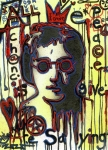 John Lennon  Mixed Media - All We Are Saying by Robert Wolverton Jr