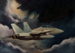 F-18 Painting Posters - All Weather - Single Craft Poster by Stephen Roberson