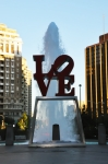 Love Park Framed Prints - All You Need Is Love Framed Print by Bill Cannon