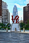 Love Park Framed Prints - All you need is love Framed Print by Paul Ward