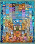 Spiritual Tapestries - Textiles Posters - All Your Dreams Come True Poster by Roberta Baker