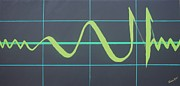 Allah Paintings - Allah in cardiograph by Faraz Khan