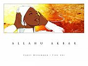 Carey Muhammad Paintings - Allahu Akbar by Carey Muhammad