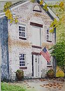 Old Buildings Paintings - Allaire Carpenter Shop by Ally Benbrook