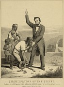 Freedman Prints - Allegorical Print Of Lincoln Print by Everett