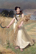 Field Of Crops Posters - Allegory of France Poster by Georges Louis Poilleux Saint Ange