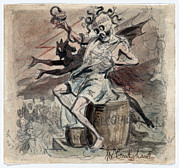 Medusa Prints - Allegory Of The Demon Alcohol Print by Everett