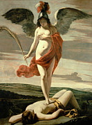 Martyr Painting Posters - Allegory of Victory Poster by Louis Le Nain 