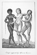 Negroes Photo Framed Prints - Allegory: Slave Trade, 1796 Framed Print by Granger