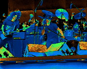 Concert Digital Art - Allen and Ronnie and Artimus at Day on the Green by Ben Upham