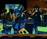 Concert Digital Art - Allen and Ronnie in Cosmic Oakland by Ben Upham