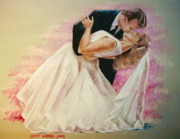 Gown Pastels - Allen and Trish by Larry Whitler