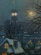 Allen Bradley Clock Milwaukee Print by Tom Shropshire