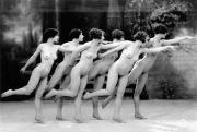 Nude Photograph Framed Prints - Allen: Chorus Line, 1920 Framed Print by Granger