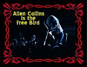 Allen Collins Posters - Allen Collins is the Blue Free Bird Poster by Ben Upham