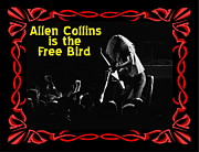 Allen Collins Posters - Allen Collins is the Free Bird 2 Poster by Ben Upham