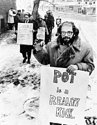 Demonstrations Prints - Allen Ginsberg 1927-1997, American Beat Print by Everett