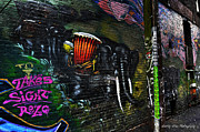 Wesley Allen Photography Photos - Alley Art 10 by Wesley Allen Shaw